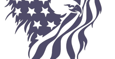 Eagle american flag dxf