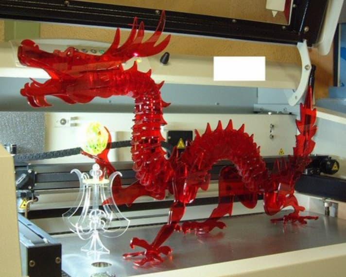 dragon 3d puzzle dxf file