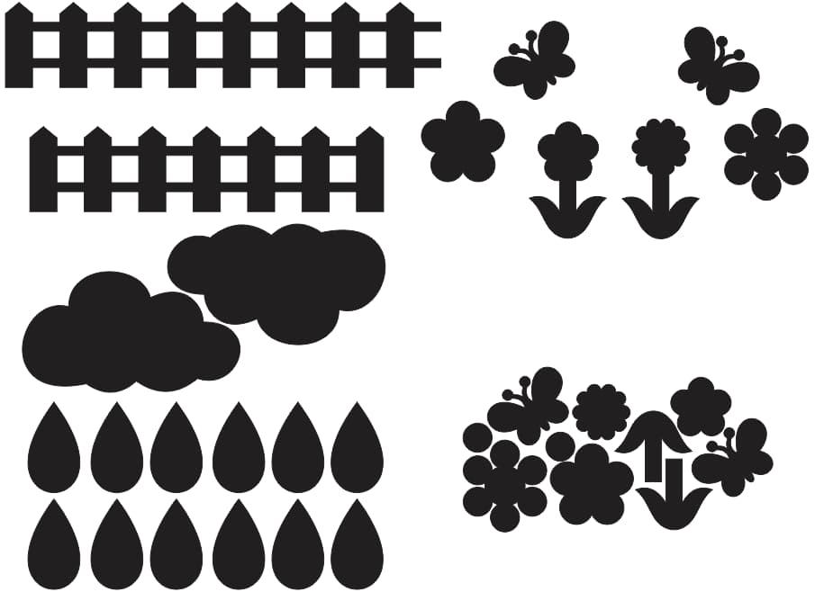 laser cut patterns vector