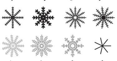 vector snowflakes free