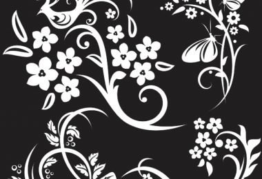 flower and butterfly design