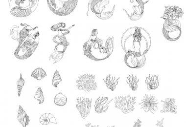mermaid vector free