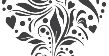 vector free download heart stencil Vector Art