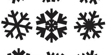snowflake vector Free clipart