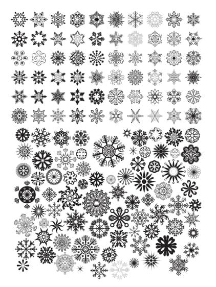 estrella vector Set vector art free download DXF format