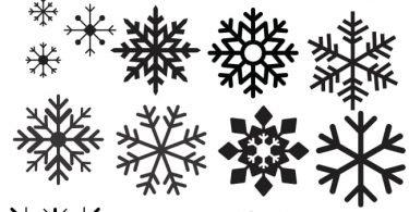 Christmas snowflake vector icons
