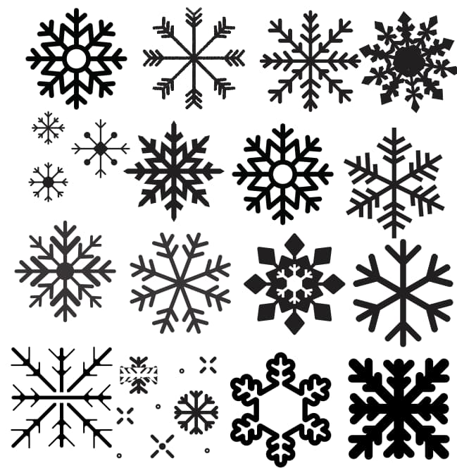 Christmas snowflake vector icons