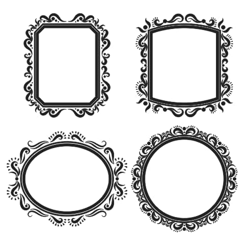 ornate vector frame