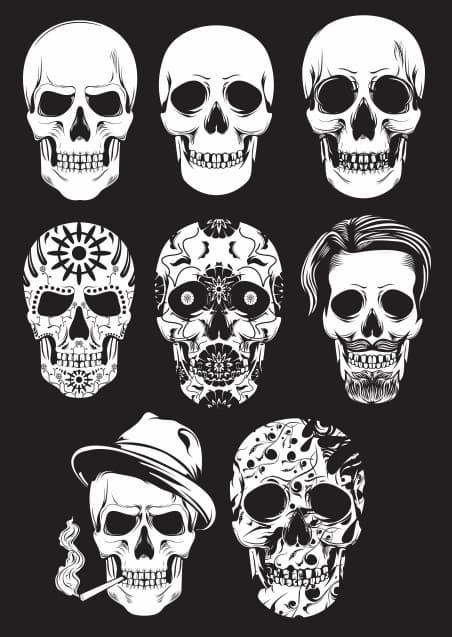 Skulls Free Vector