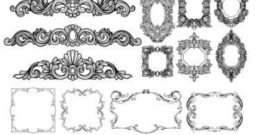 Decor Baroque Elements baroque frame vector free