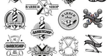 barber shop vector free download