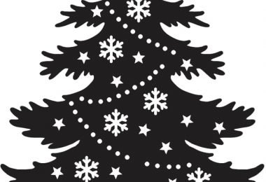 christmas tree vector free DXF files download