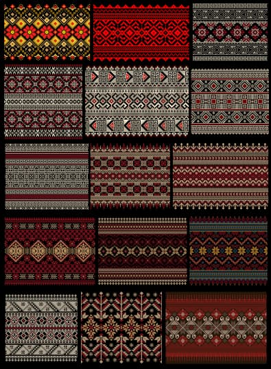 fabric pattern vector free download