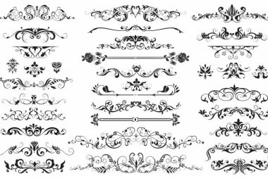 free art deco border vector