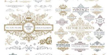 free download vector frame vintage