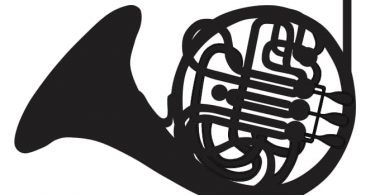 free vector art of a french horn