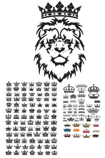 free vector crown