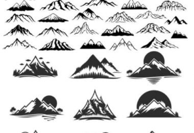 free vector mountains