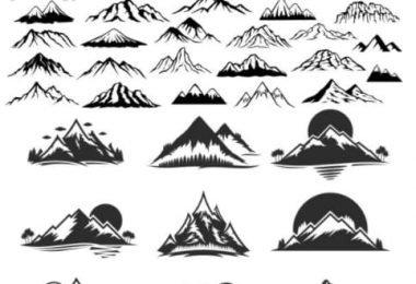 free vector mountains