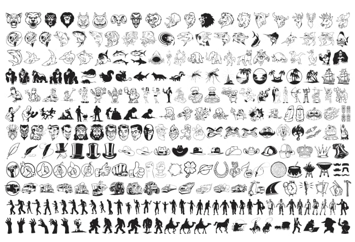 free vector silhouettes