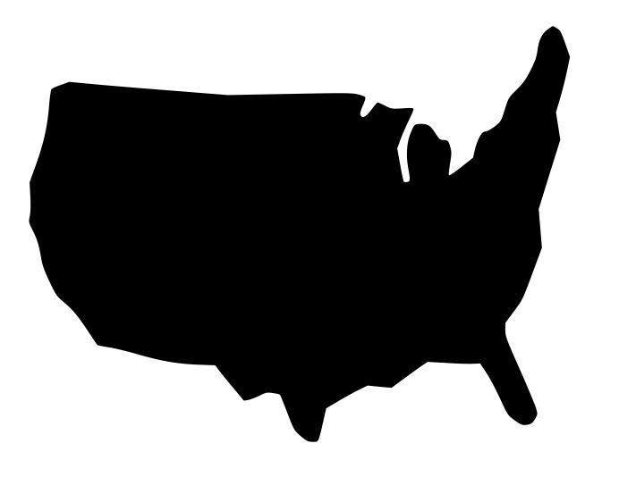free vector us map