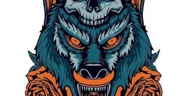 wolf skull vector