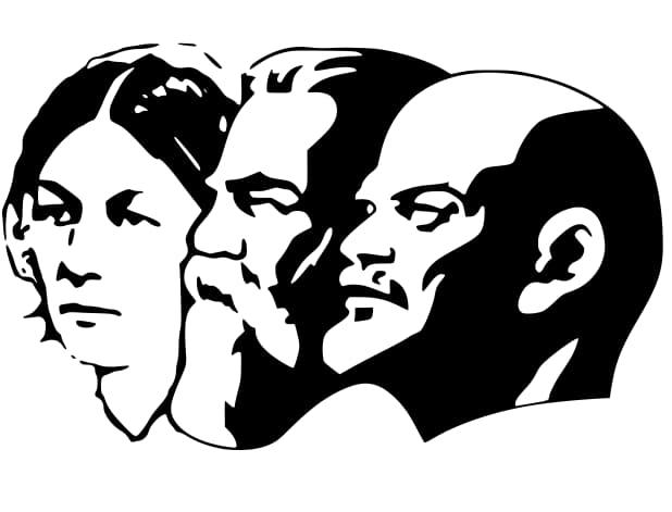 lenin stalin mark profile free vector
