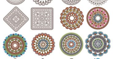 round ornament vector free download