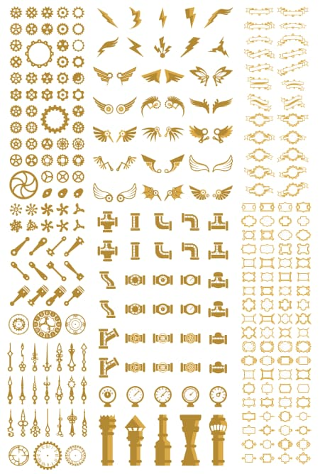 steampunk vector free download