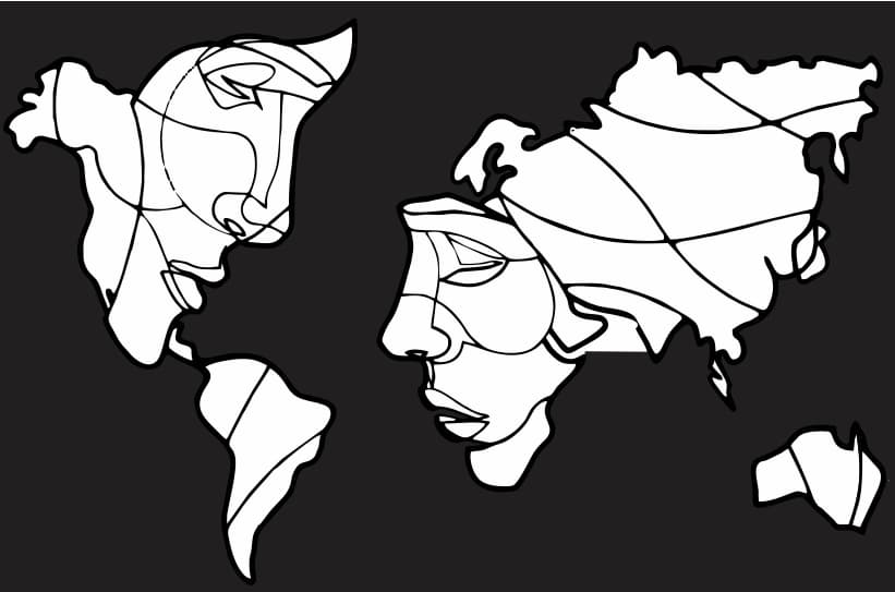 world map vector free