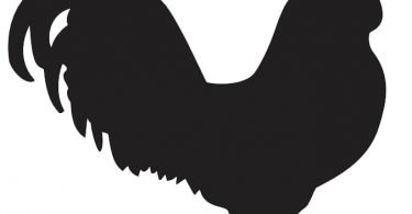 Free Rooster Silhouette Vector dxf File