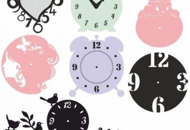 Laser Cut Clock Template