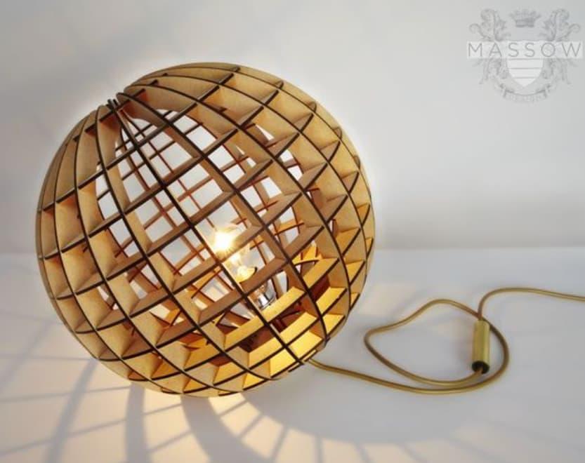 Laser Cut Wood Lamp