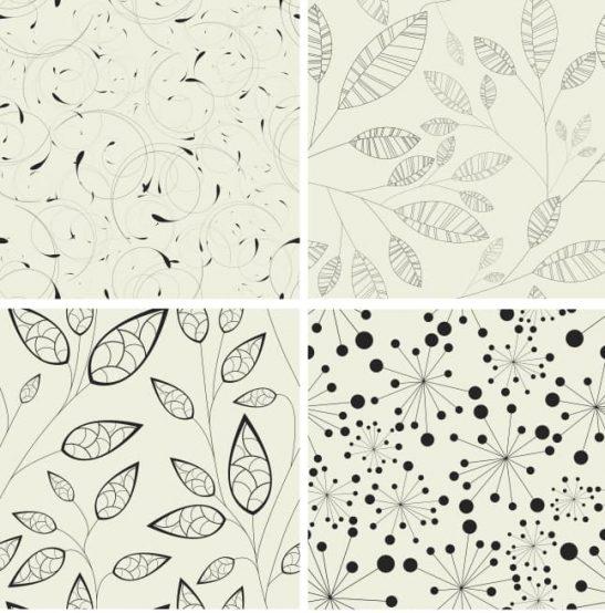 Leaf Pattern Free Vector