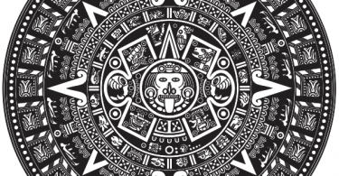 aztec calendar vector Free