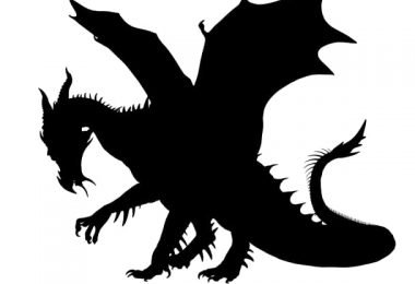 free vector dragon silhouette
