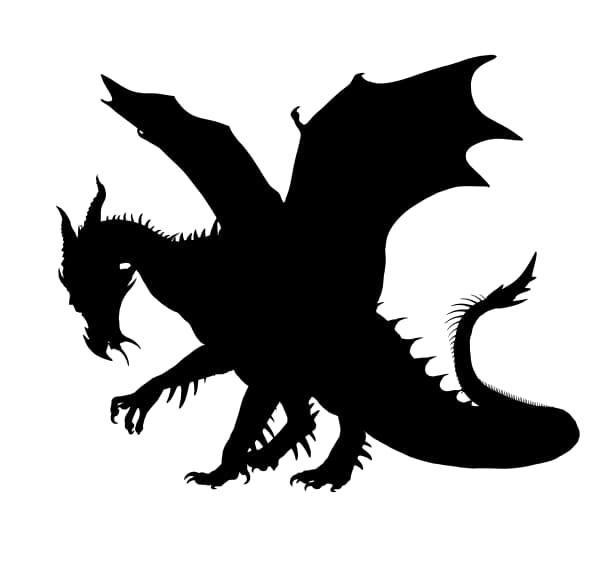 free vector dragon silhouette