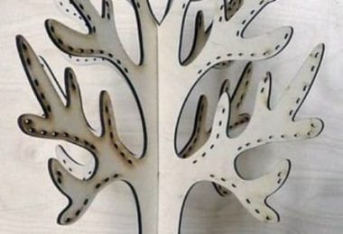 laser cut tree template