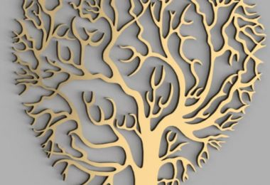 laser cut tree vector