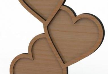 wooden laser cut frame