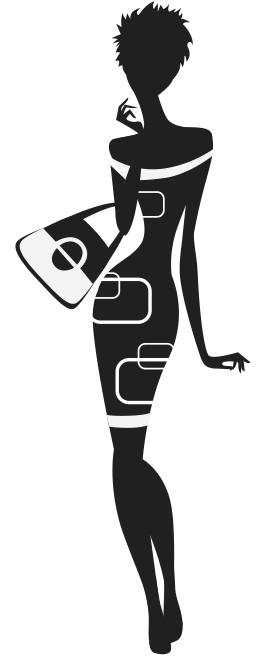 Classy woman silhouette