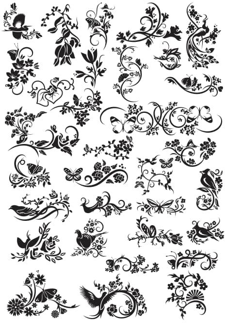Floral Ornament Elements