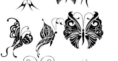 amazing butterfly design tattoo vector