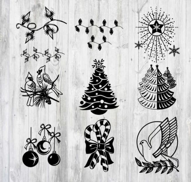 christmas free vector art download