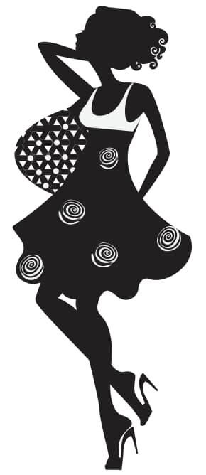 Classy Female Silhouette Vector