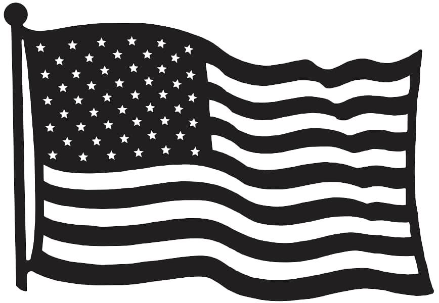 Free American Flag DXF