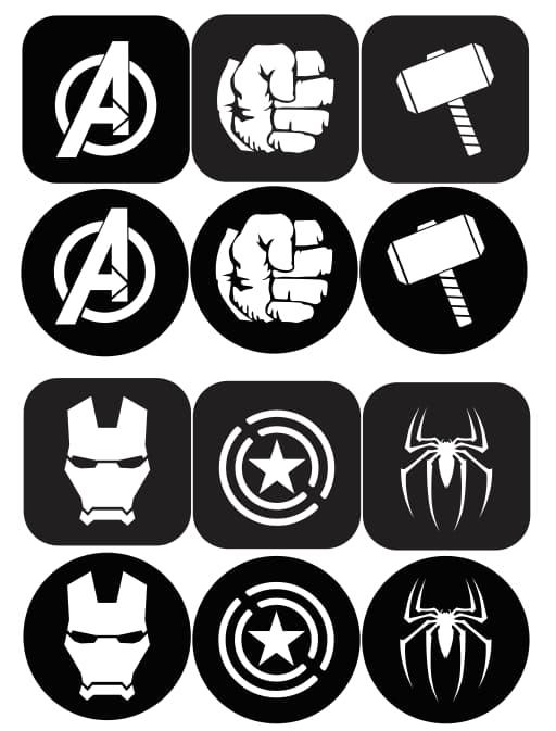 Laser Cut Avengers Coasters